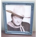 John Wayne 8x10 Blue Old Timey Decorative Frame B&W